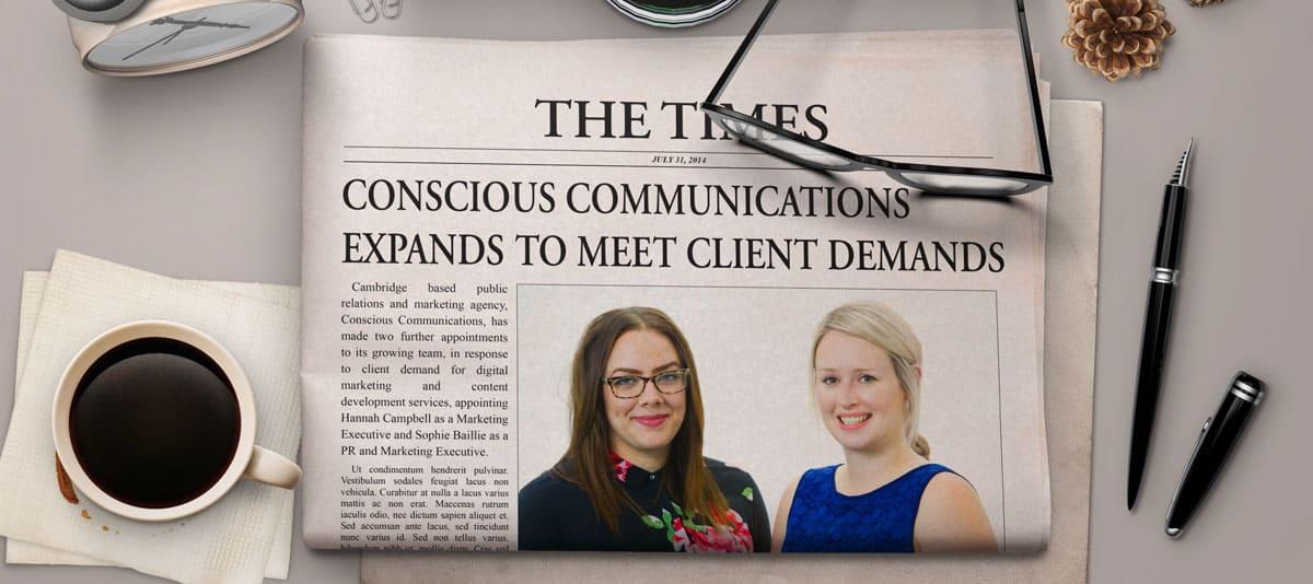 Hannah & Sophie newspaper image