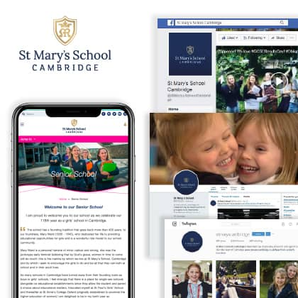 St Mary's website case study image