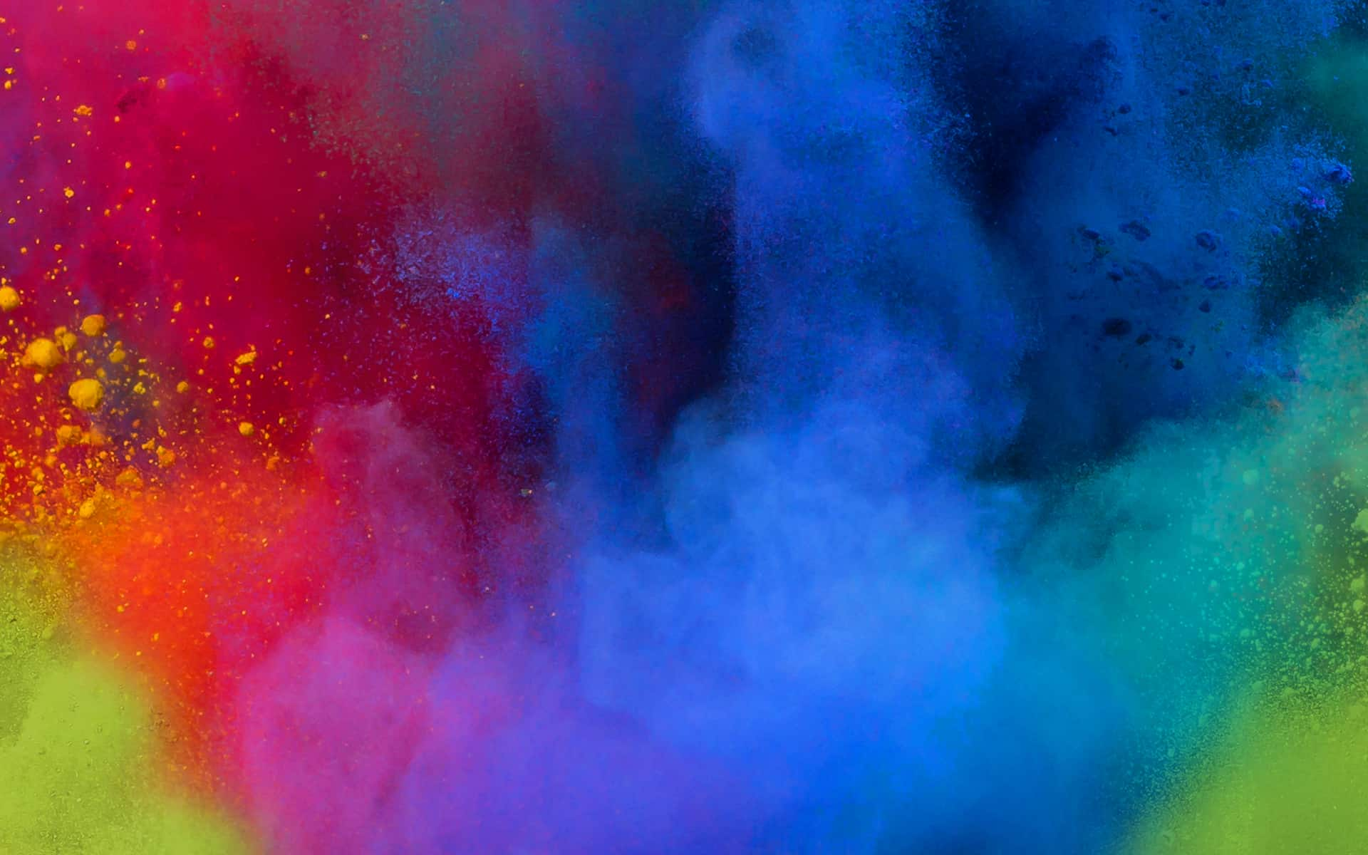 Colour powder explosion image