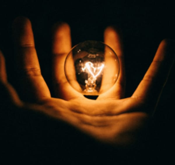 Lightbulb in hand blog image