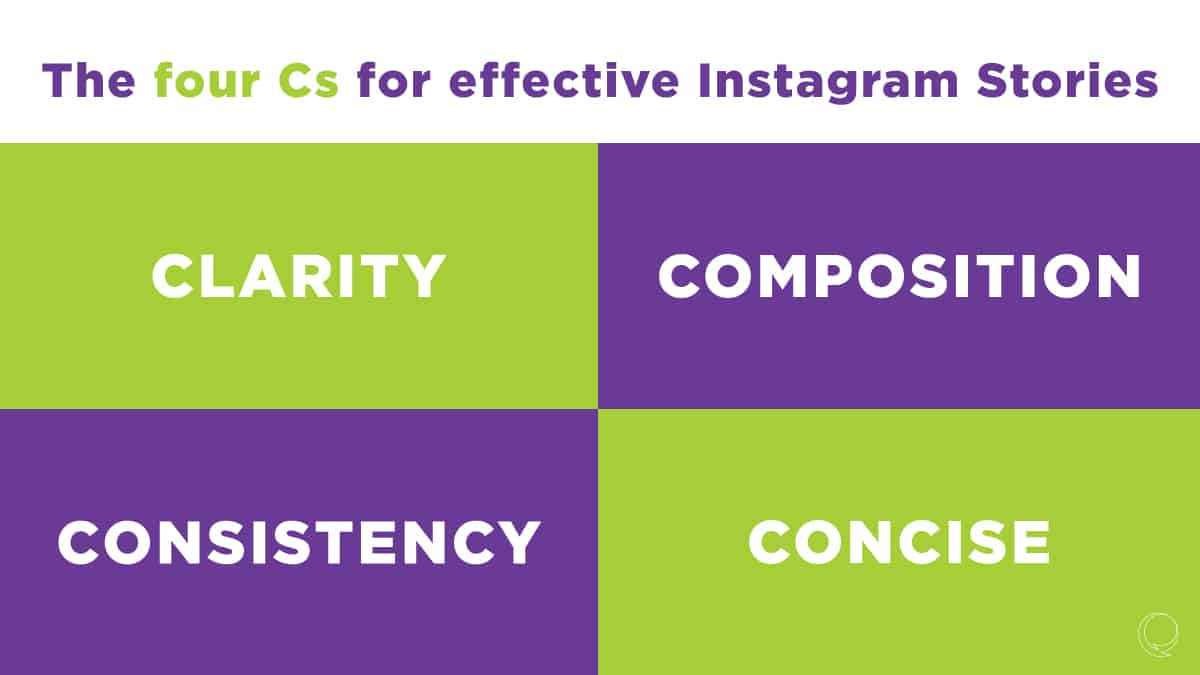 four Cs for effective Instagram Stories image